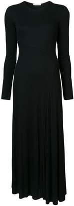 The Row asymmetric hem fitted dress
