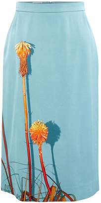 Dries Van Noten Printed midi skirt