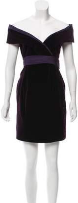 Alexander McQueen Velvet Mini Dress