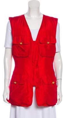 Donna Karan Silk Down Vest