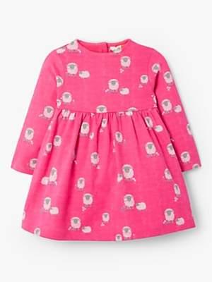 John Lewis & Partners Baby GOTS Organic Cotton Sheep Dress, Pink