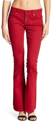 Miss Me Red Raw Edge Flare Jeans