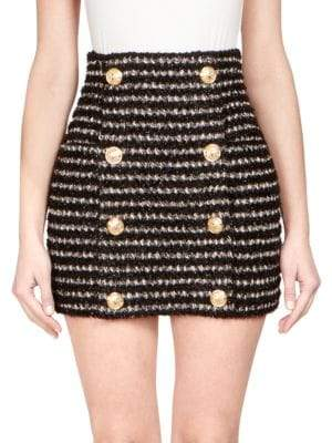 Balmain Tweed Mini Skirt