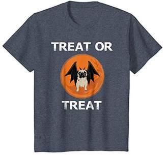 Treat or Treat Halloween Funny Pug T-Shirt for Dog Lovers