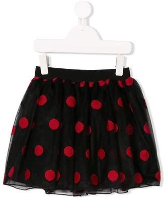 Piccola Ludo polka-dot tulle skirt