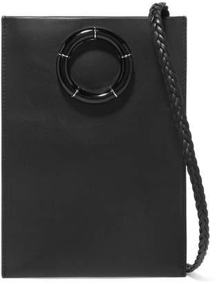 Medicine Pouch Leather Shoulder Bag - Black