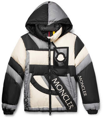 Craig Green Moncler Genius 5 Moncler Colour-Block Quilted Shell Hooded Down Jacket