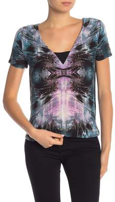 Tart Thelma Short Sleeve Print Silk Blouse
