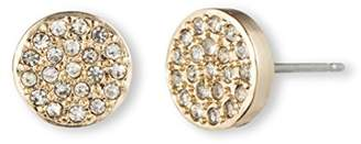 Anne Klein Gold Update Gold Tone and Crystal Pave Stud Earrings