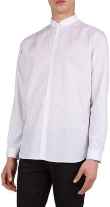 The Kooples Lord Stripes Mandarin Collar Long Sleeve Sport Shirt