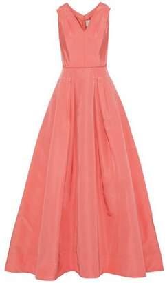 Carolina Herrera Pleated Silk-Faille Gown