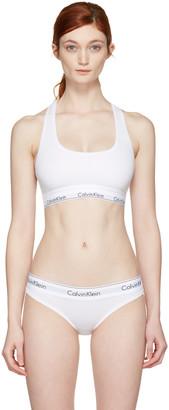 Calvin Klein Underwear White Modern Bralette $30 thestylecure.com