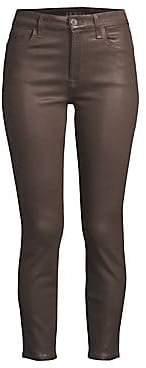 7 For All Mankind Jen7 by Jen7 by Women's Coated Skinny Ankle Jeans