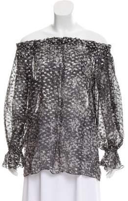 Michael Kors Off-The-Shoulder Metallic Top