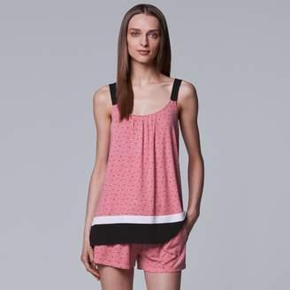 Vera Wang Women's Simply Vera Contemporary Tank & Boxer Shorts Pajama Set