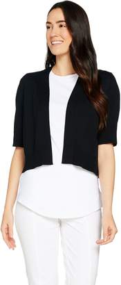 Isaac Mizrahi Live! Elbow Sleeve Cropped Sweater Shrug
