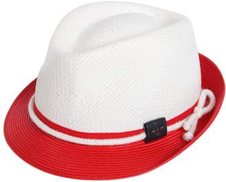 Armani Junior Two Tone Straw Effect Panama Hat