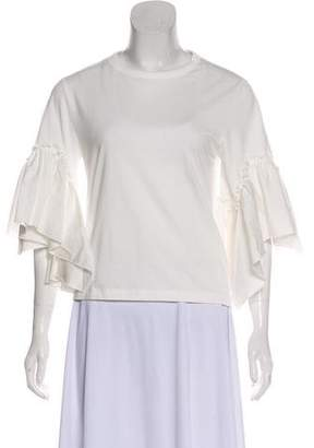 See by Chloe Ruffle-Accented T-Shirt