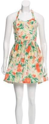 Alice + Olivia Halter Mini Dress