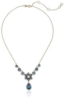 Marchesa Women's Gold/ Multi Y Shaped Necklace