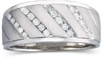 MODERN BRIDE Mens 1/4 CT. T.W. Diamond Band Sterling Silver