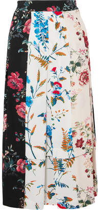 c8797af4ee Maje Pleated Floral-print Crepe De Chine Midi Skirt - Ivory