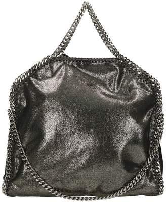 0fe09eb12fb8 at Italist · Stella McCartney Falabella Fold Over Tote Silver Faux Leather  Bag