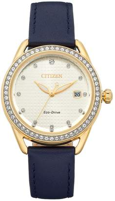 Citizen Drive From Eco-Drive Women's LTR Crystal Leather Watch
