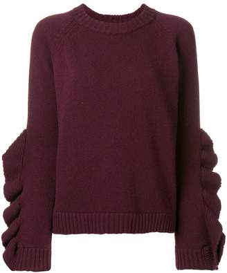 RED Valentino ruffle sleeve jumper