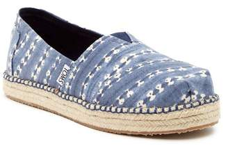 Toms Batik Stripe Platform Alpargata Shoe (Little Kid & Big Kid)