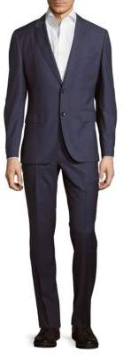 Hugo Boss Striped Wool Suit