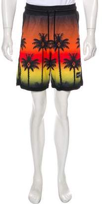 Marcelo Burlon County of Milan Red Palm Shorts