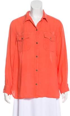Current/Elliott Long Sleeve Button-Up Top