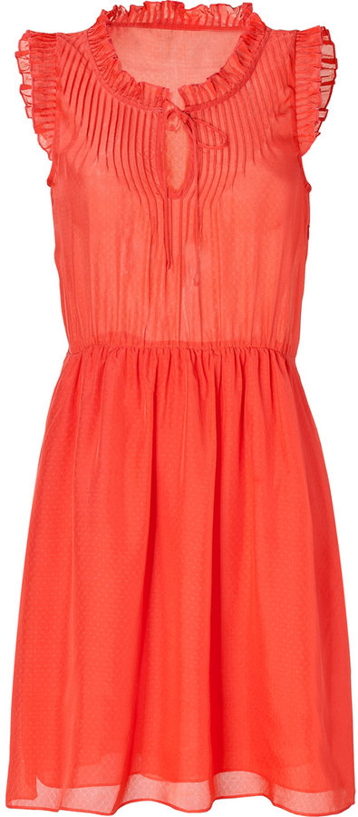 Paul & Joe Sister Coral Sleeveless Dress
