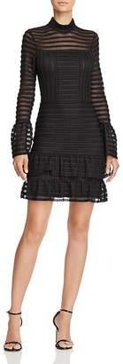 Parker Topanga Bell-Sleeve Textured Dress