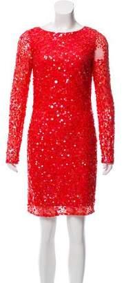 Aidan Mattox Sequin Mini Dress