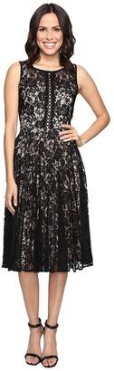 Christin Michaels Cosette Sleeveless Midi Lace Dress $104 thestylecure.com
