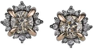 Bochic 18K Rose and Black Gold 2.50 Ct Diamond Stud Earrings