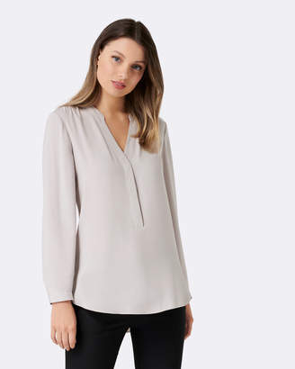Petite Heidi Gathered Shoulder Shirt