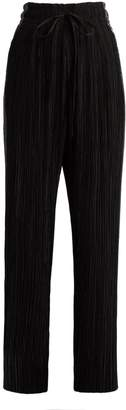 Haider Ackermann Canis contrast-panel wide-leg pleated trousers