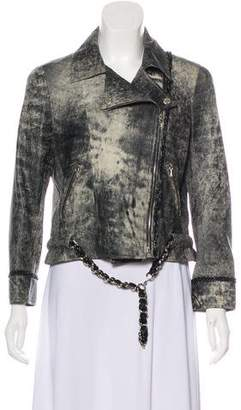 Chanel Chain-Link Leather Jacket