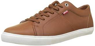 Levi's Footwear and Accessories Men's Woods Trainers, (Light Brown 26)