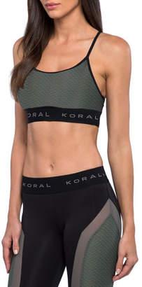 Koral Activewear Sweeper Netz Mid-Impact Sports Bra