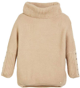 Mayoral Chunky Turtleneck Knit Pullover Sweater, Size 8-16