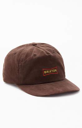 Brixton Wedge Corduroy Snapback Hat
