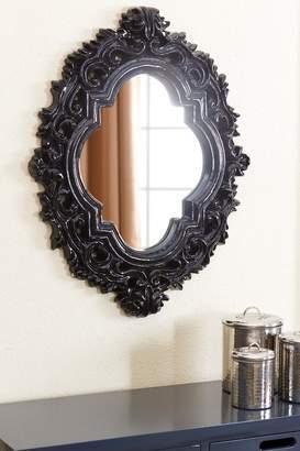 Abbyson Living Robynn Black Resin Wall Mirror