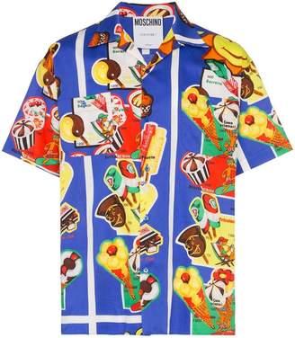 Moschino graphic print short sleeved shirt