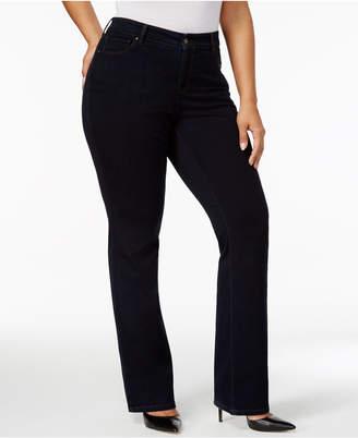 9f2a6584c744f Style   Co Plus   Petite Plus Size Tummy-Control Bootcut Jeans
