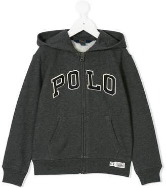 Ralph Lauren logo patch zip hoodie