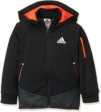 adidas (アディダス) - (アディダス)adidas トレーニングウェア LB FTB ジャージジャケット (フード付) ENQ79 [ジュニア] ENQ79 CF6702 ブラック/カーボン S18/リフレクティブシルバー (CF6702) 130